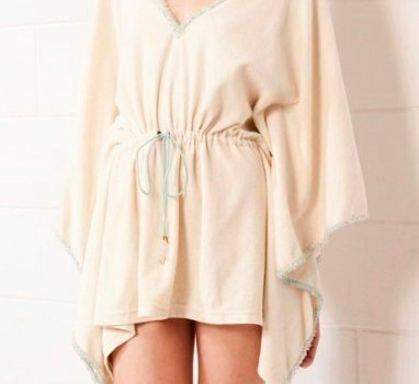 poncho type bathrobe