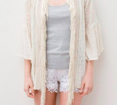 gown type cardigan